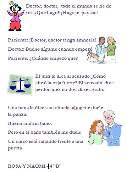 Diario mural chistes chistosos for Amenidades para periodico mural
