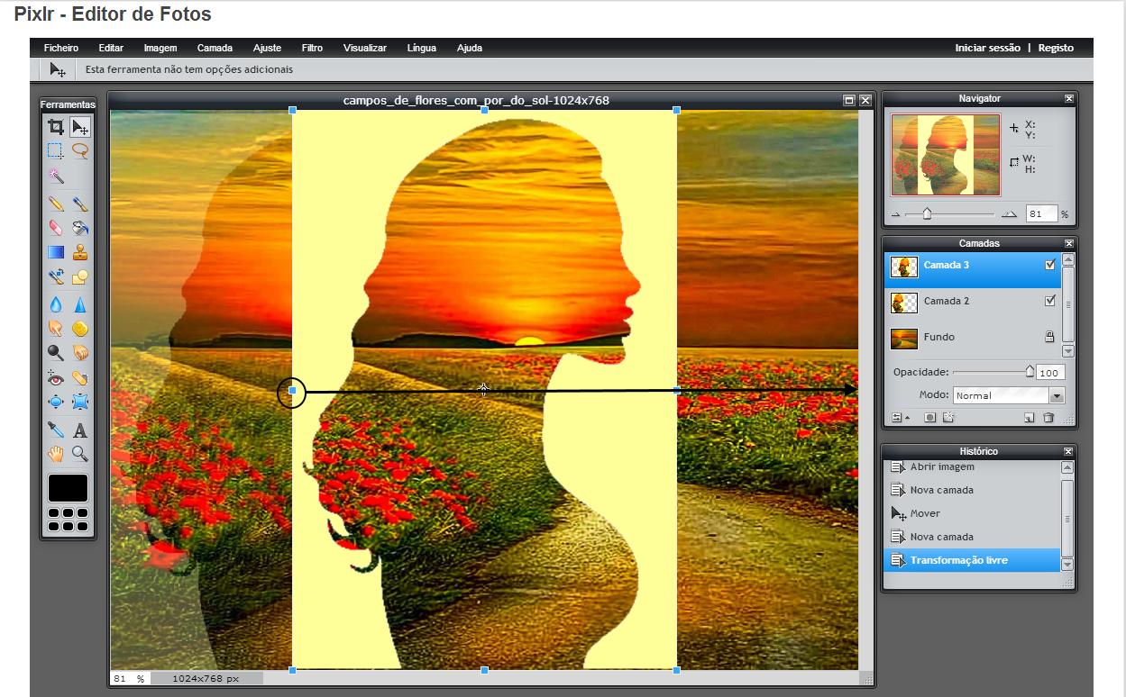 manipulação da imagem