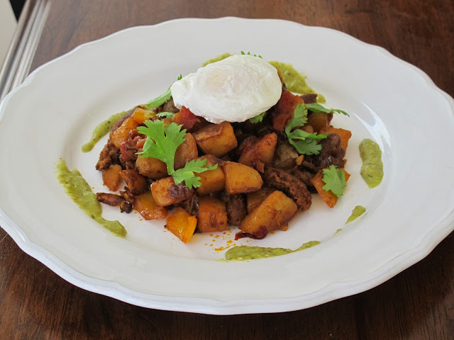 Chorizo, Potato, & Pepper Hash