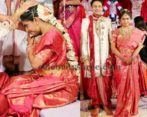 BVSN Prasad Daughter Wedding Saree