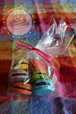 rainbow baby shower rainbow macarons
