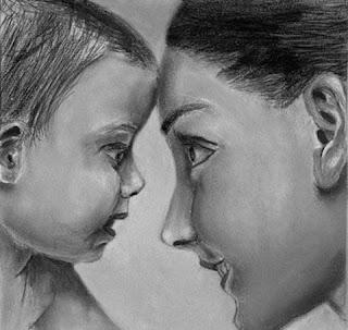 Image d'une mere avec son bébé