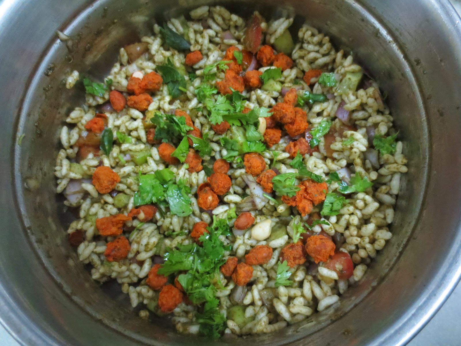 how to cook bhel puri