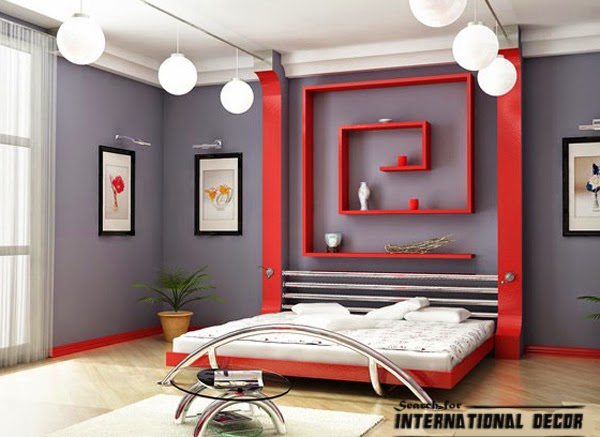 Japanese bedroom, Japanese style bedroom, wall shelves,ceiling lights