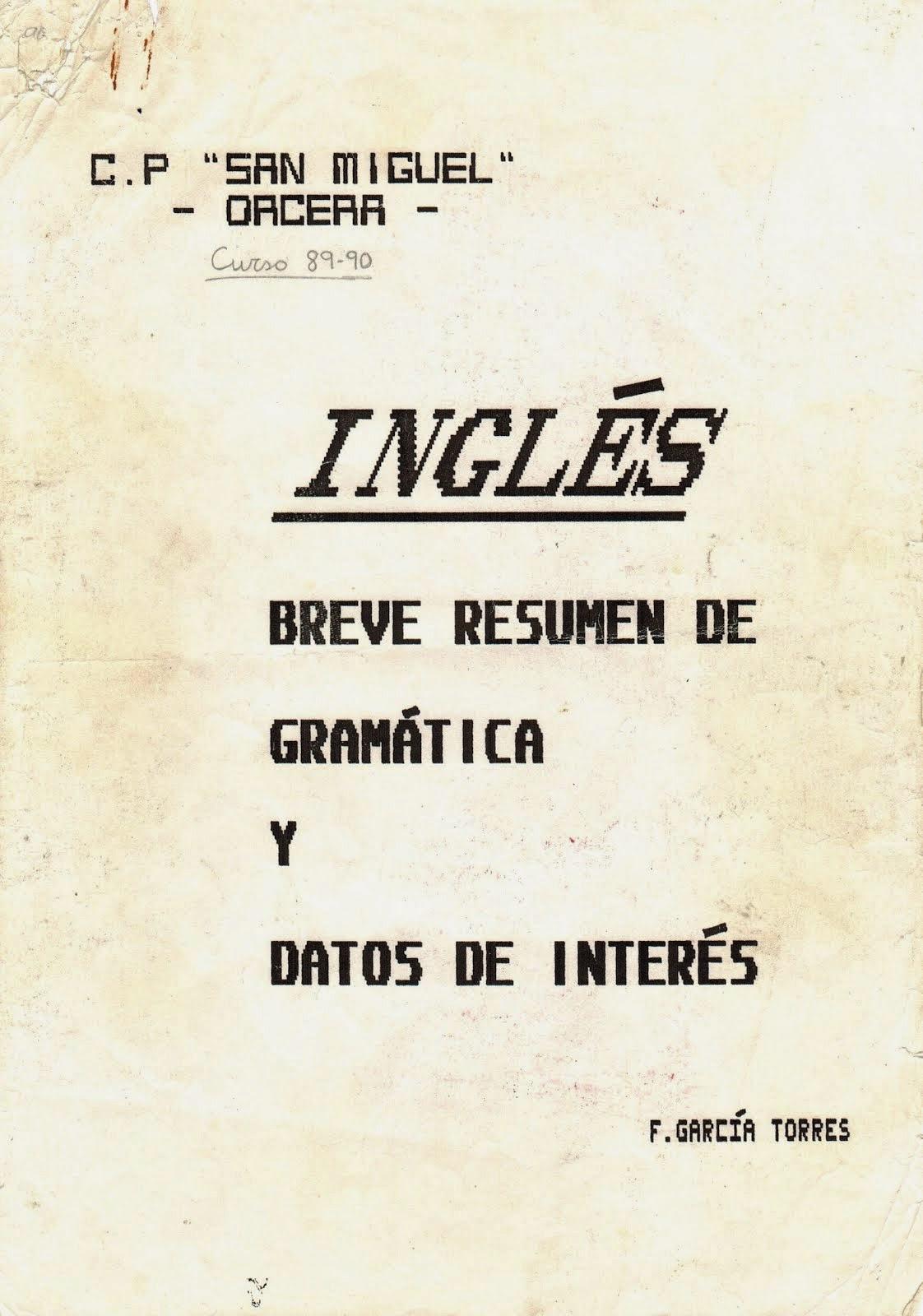 APUNTES DE INGLÉS