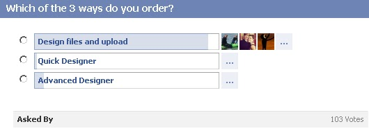 GotPrint Facebook question/poll - Which of the 3 ways do you order?
