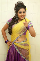 TV Anchor Priyanka in Half Saree Navel Show still-3