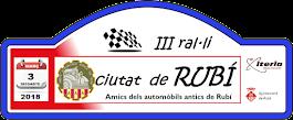 III RAL·LI CIUTAT DE RUBI