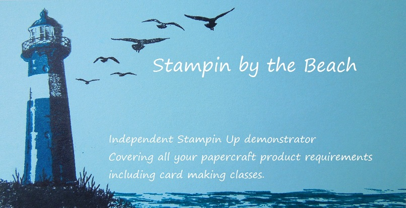 Stampin by the beach