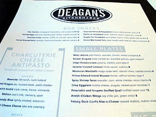Deagan's Kitchen & Bar Menu Top