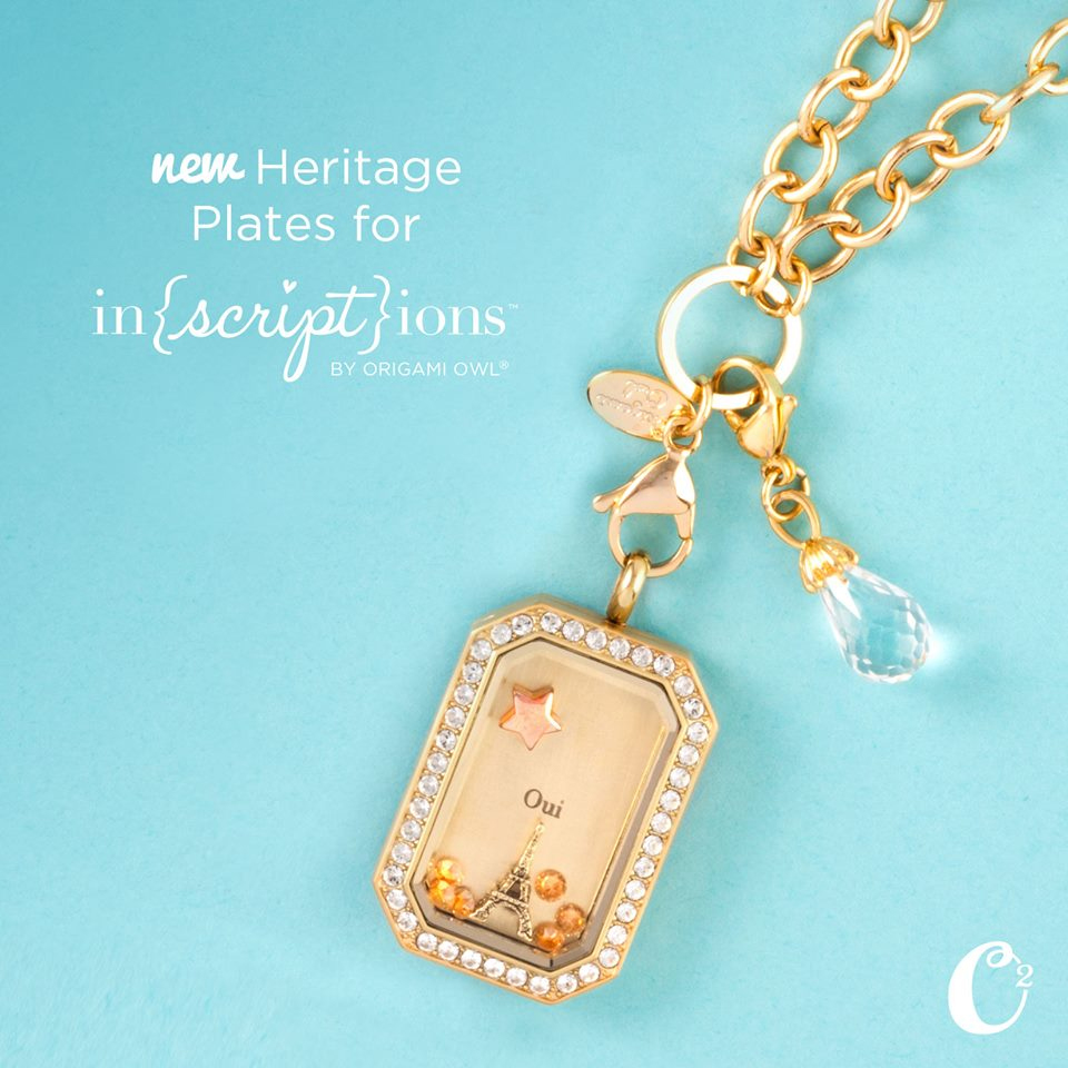 Origami Owl Heritage Living Locket Plates available at StoriedCharms.com