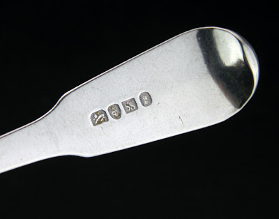 ANTIQUE 19thC CHINESE EXPORT SILVER TABLE SPOON, SUNSHING, CANTON c.1800