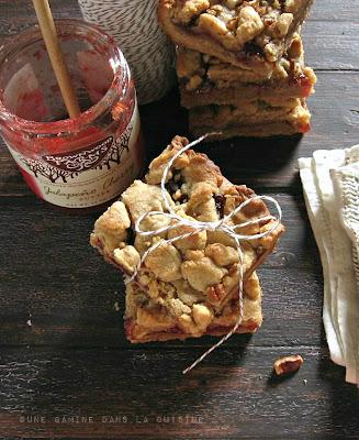 Peanut Butter & Jam Bars |une gamine dans la cuisine