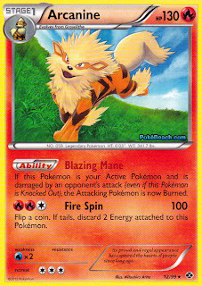 Arcanine Next Destinies Pokemon Card