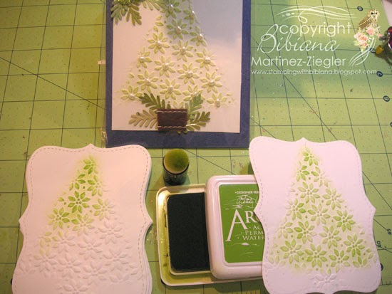 DIY embossing diffuser color tree shape