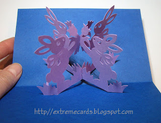 Easter bunny 3d card pop up