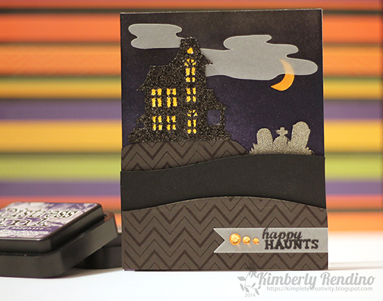 Haunted House Halloween card by Kimberly Rendino for Newton's Nook Designs | Spooky Street Stamp Set