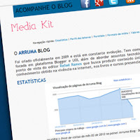 IMAGEM: Media Kit do Arruma Blog