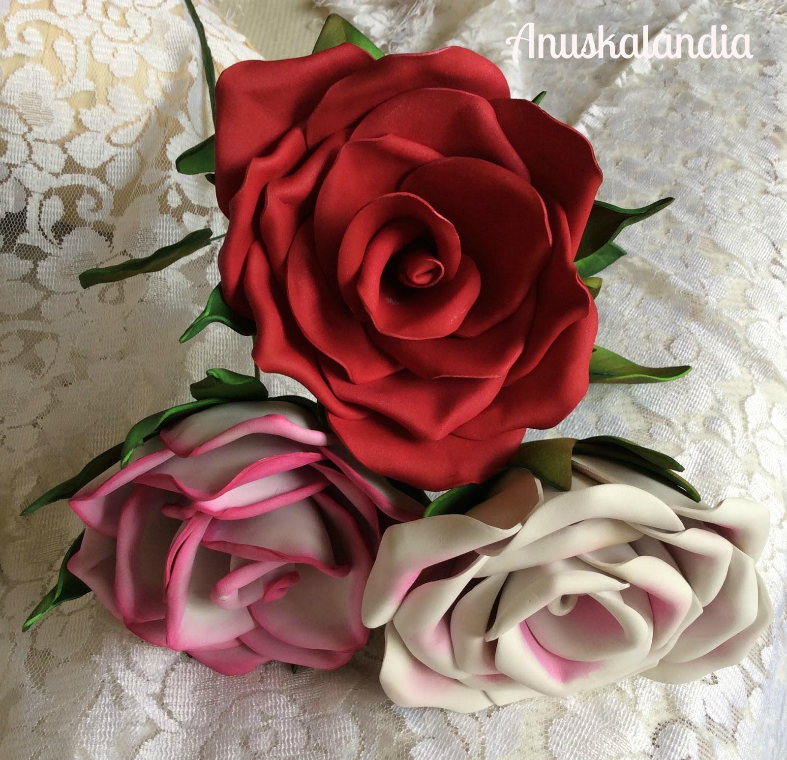 Flores en goma eva o foamy rosasanuskalandia - Flores con goma eva ...