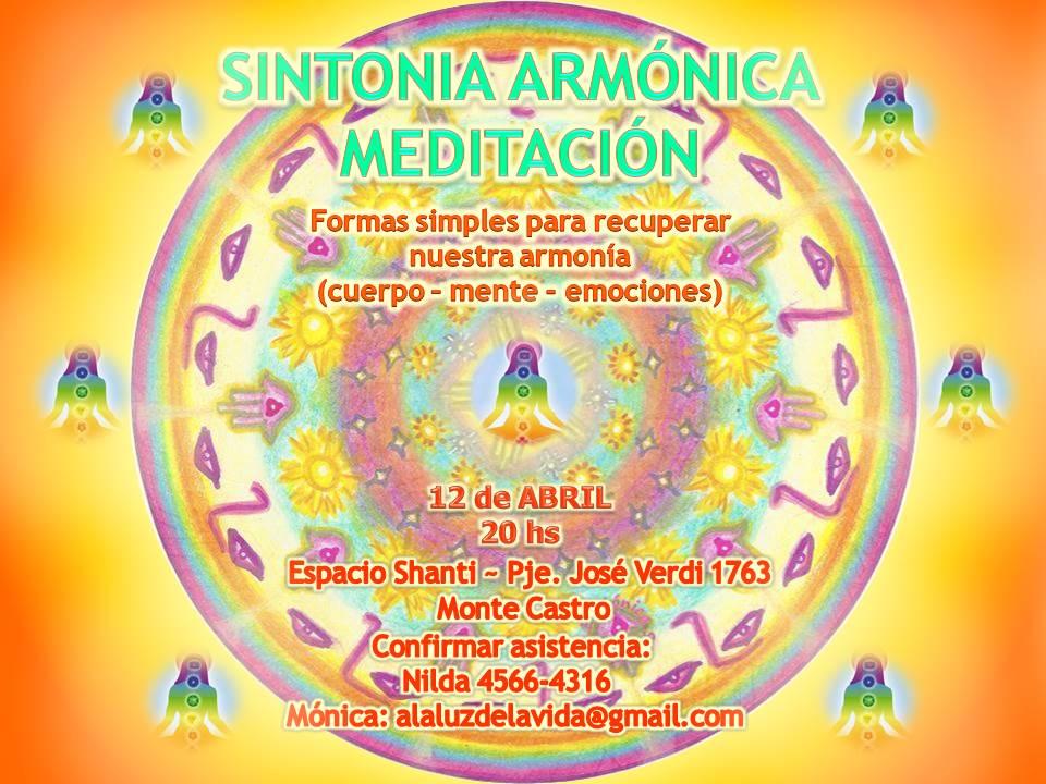 Talleres Mensuales de Meditación y Sintonía Armónica