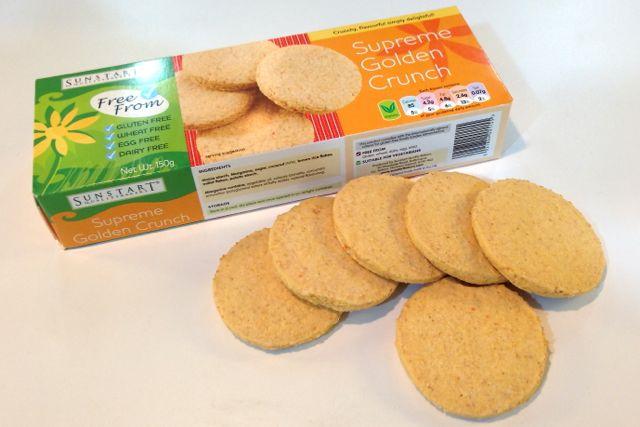 Sunstart Bakery Gluten-Free Supreme Golden Crunch biscuits