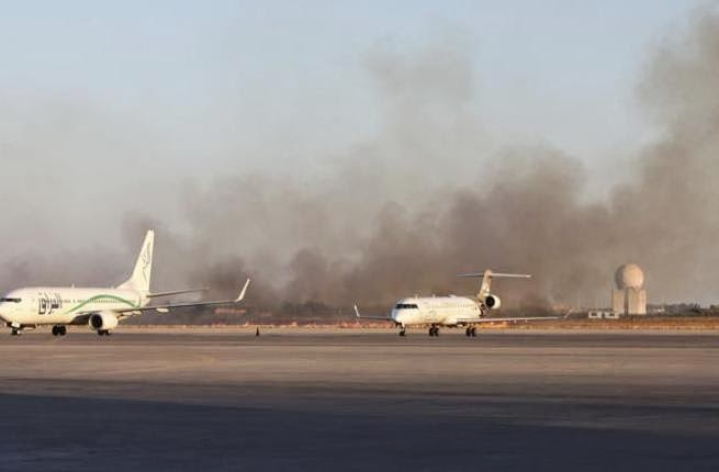 معارك مستمرة في مطار طرابلس