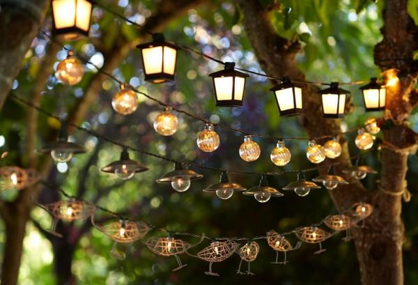 lanterne per cena all'aperto