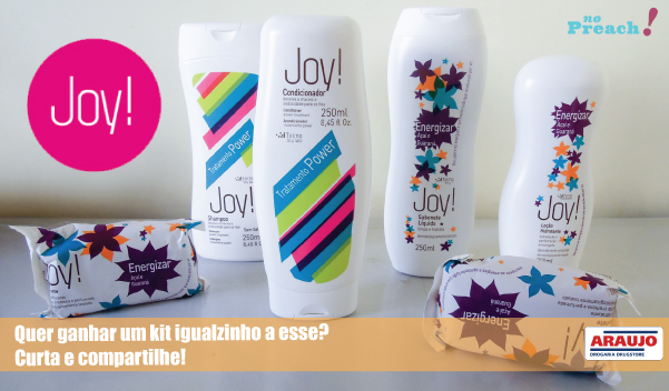 sorteio Kit de beleza Joy