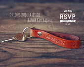 Leather keychain custom