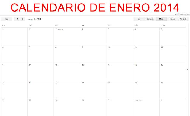 Calendario 2014 Enero Para imprimir gratis - Calendario Para ...