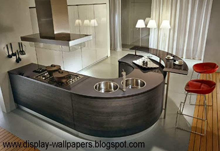 Wallpapers download awesome kitchen designs photos for Cool kitchen designs