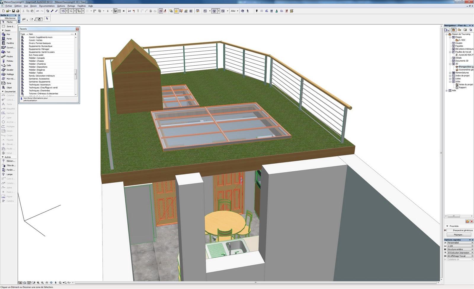 R novation de ma maison vue 3d de la terrasse sans l 39 escalier for Projet terrasse en 3d