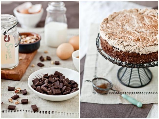 Chocolate and Hazelnut Meringue Cake
