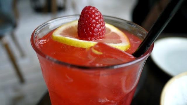 Selfridges on the roof with vintage salt pink lemonade