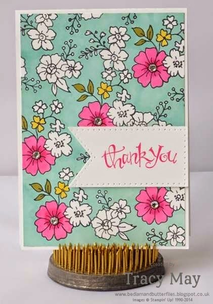 stampin up uk independent demonstrator Tracy May card making ideas colouring with blend abilities