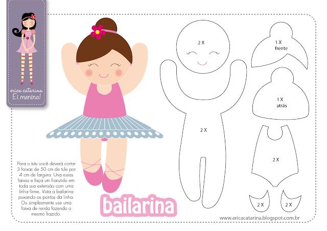 Балерина из фетра