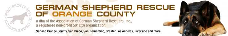 German Shepherd Dog Rescue Orange County CA