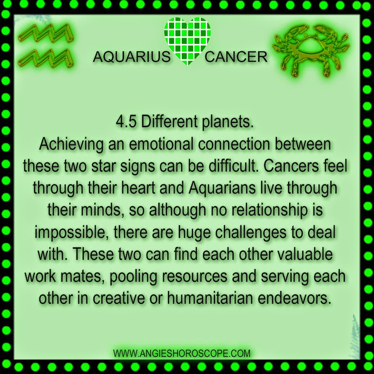 cancer dating aquarius