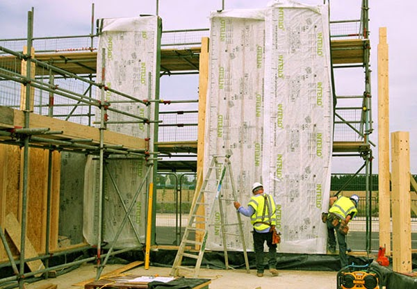 timber frame building with hempcrete