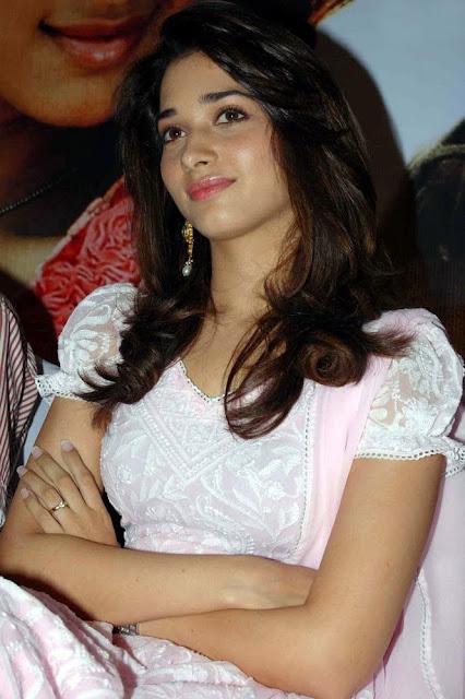 Tamanna Cute in Pink Sudithar Photos