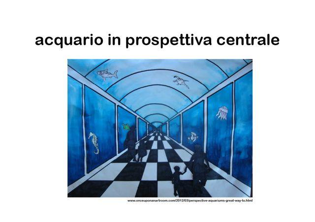 Arte in classe acquario in prospettiva centrale for Disegni di case in prospettiva