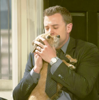 Billy Abbott and his dog from CBS Young and the Restless