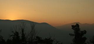 Hazy pre-sunrise in Bulgaria