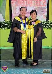 Nilo and Zenny Gret during AITE's 8th Commencement Rites