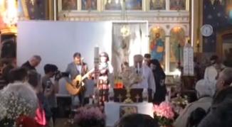VIDEO: Vladimir Pustan la Biserica Greco-Catolică Șimand, județul Arad