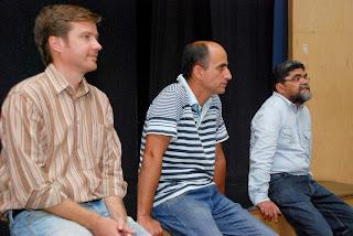 Na ordem, Walfram Lang, geógrafo da SLE, Tenente-coronel André de Melo, Secretario de Meio Ambiente, e Raimundo Lopes, assessor da Secretaria de Meio Ambiente