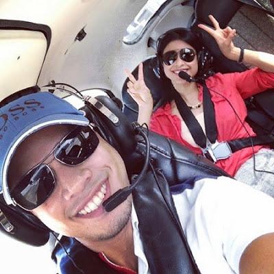 Md Zhafran Lamar Fouziah Gous Atas Helikopter