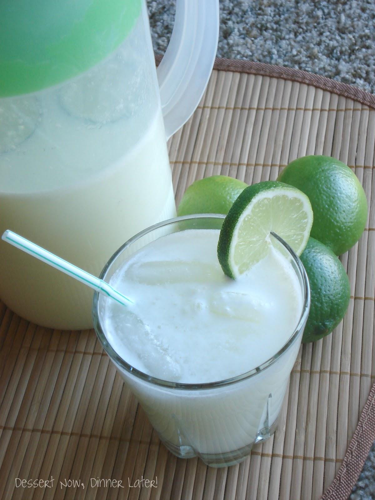 Brazilian Lemonade - Dessert Now, Dinner Later!