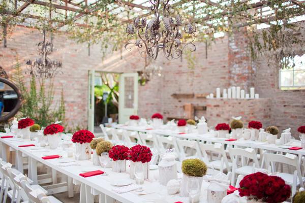 Una boda en blanco y rojo en love love by chic deco for Decoracion en rojo y blanco