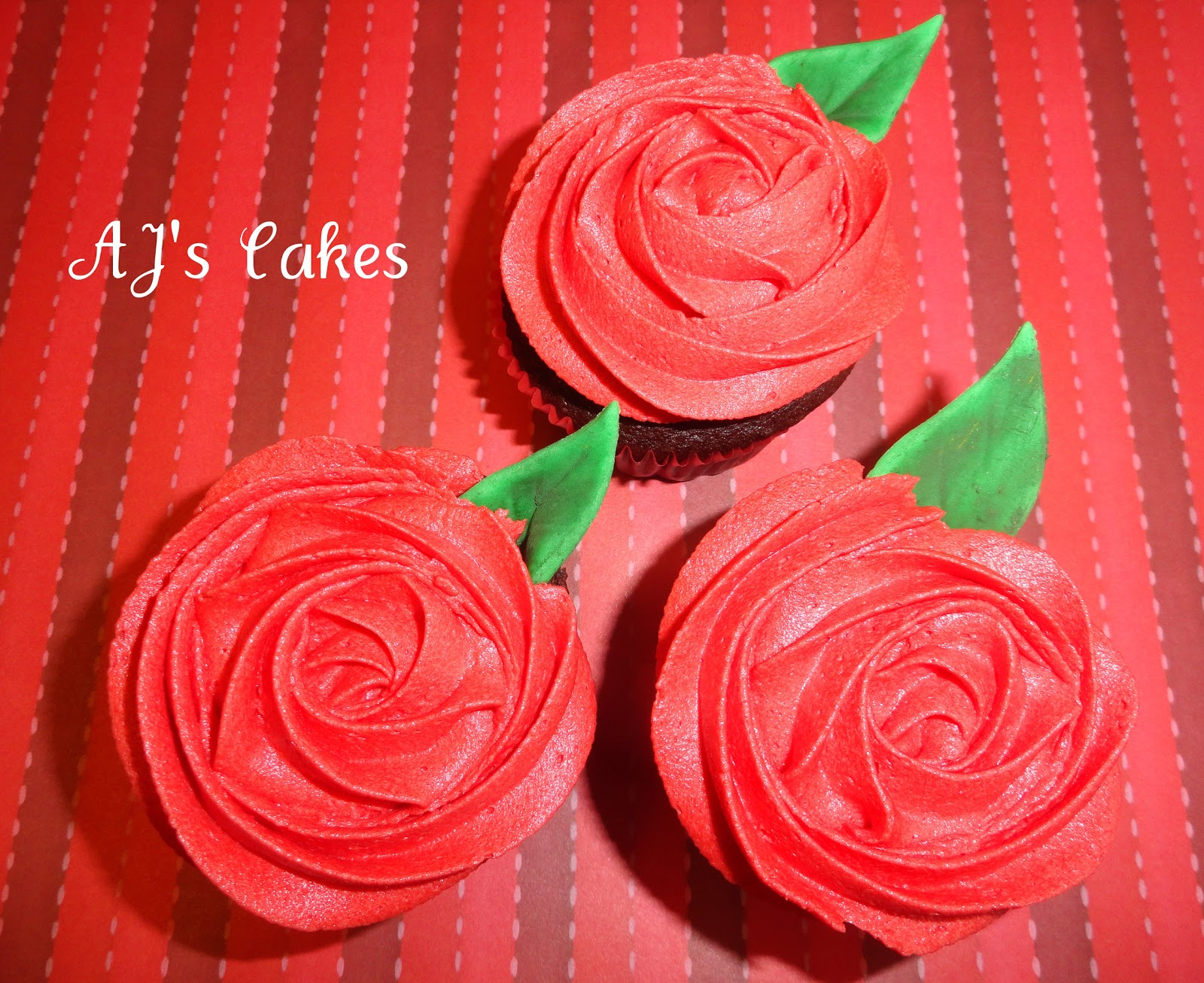 Aj S Cakes Red Rosette Cupcakes